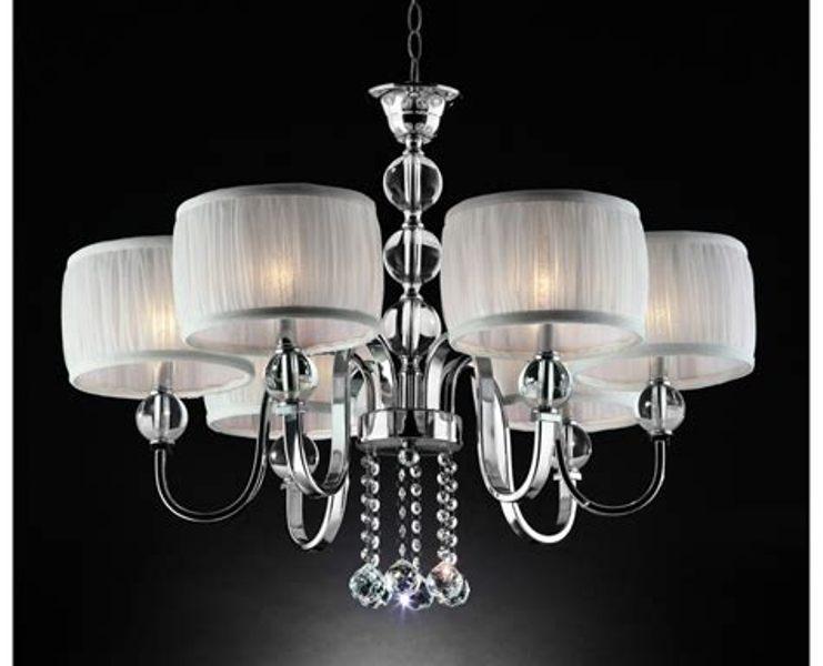 Image of: 6 Light Chandelier With Shades Picture