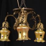 Bronze Chandelier With Shades