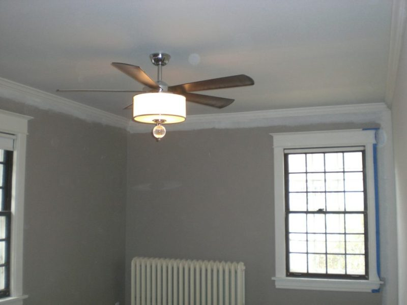 Ceiling Fan With Drum Light Shade