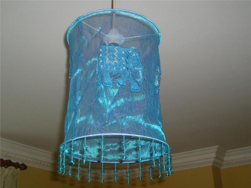 Image of: Chandelier Lamp Shade Turquoise