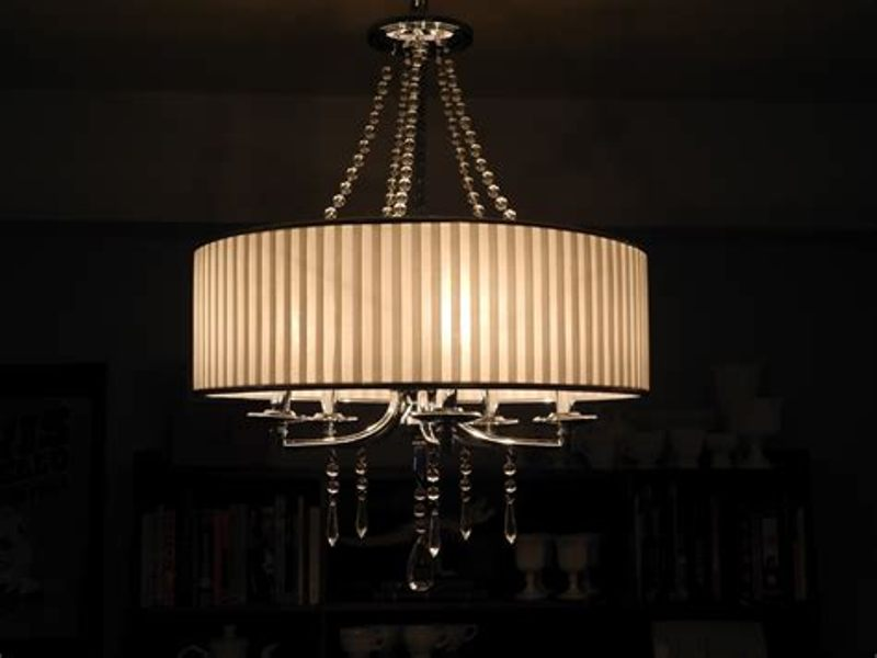 Image of: Chandelier With Drum Shade