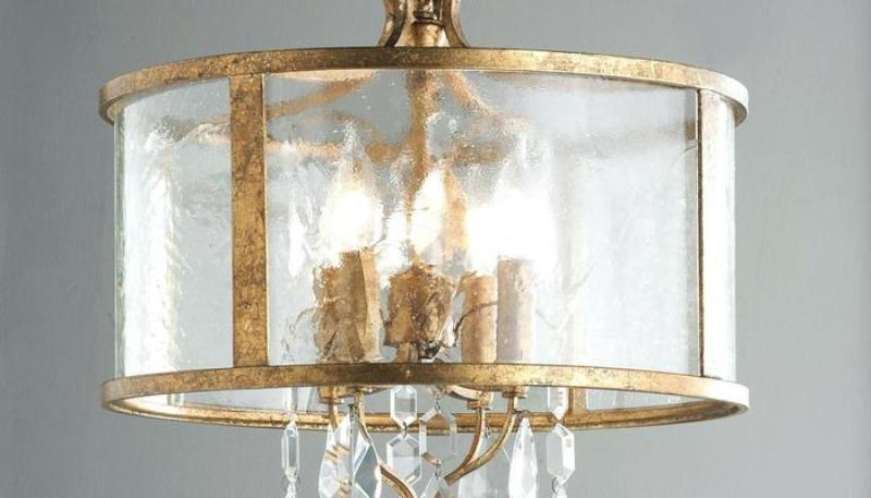 Image of: Chandelier With Fabric Shades