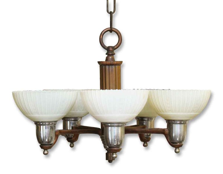 Image of: Chandelier With Glass Shades