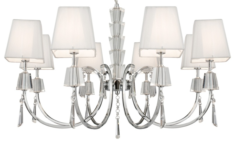 Image of: Chandelier With White Shades