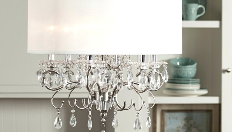 Image of: Crystal Chandelier With Shades