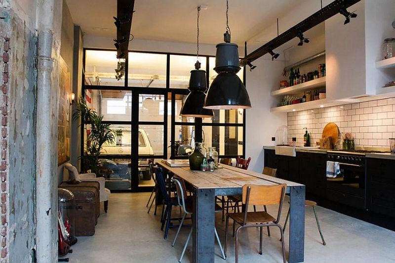 Picture of: Industrial Kitchen Island Lighting