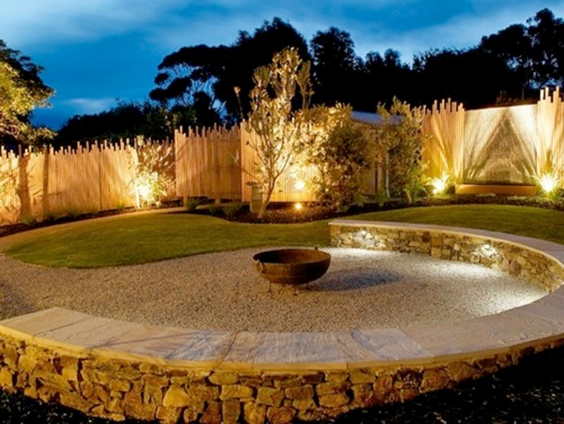 Image of: Landscape Accent Lighting