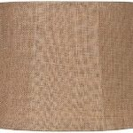 Large Burlap Lamp Shade