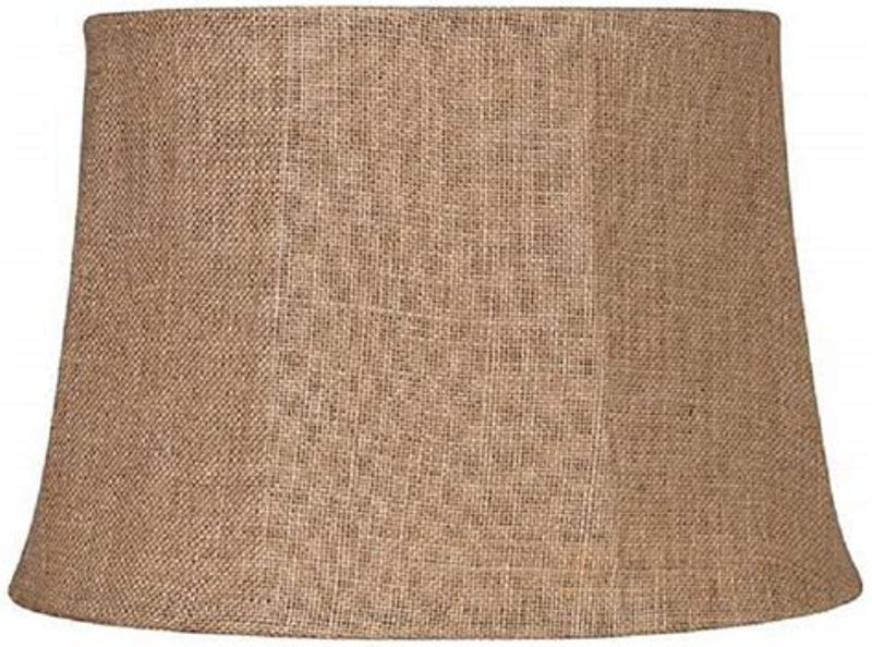 Picture of: Large Burlap Lamp Shade