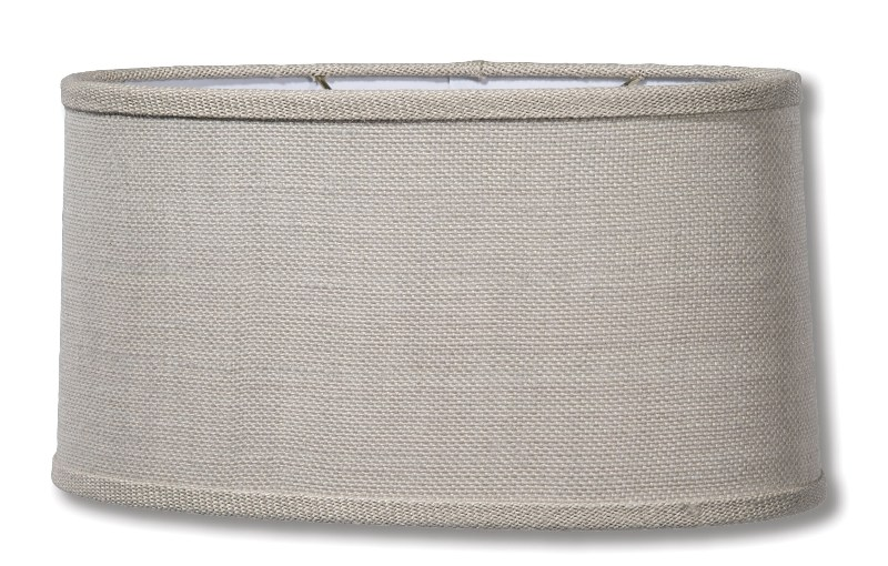 Picture of: Oval Burlap Lamp Shade