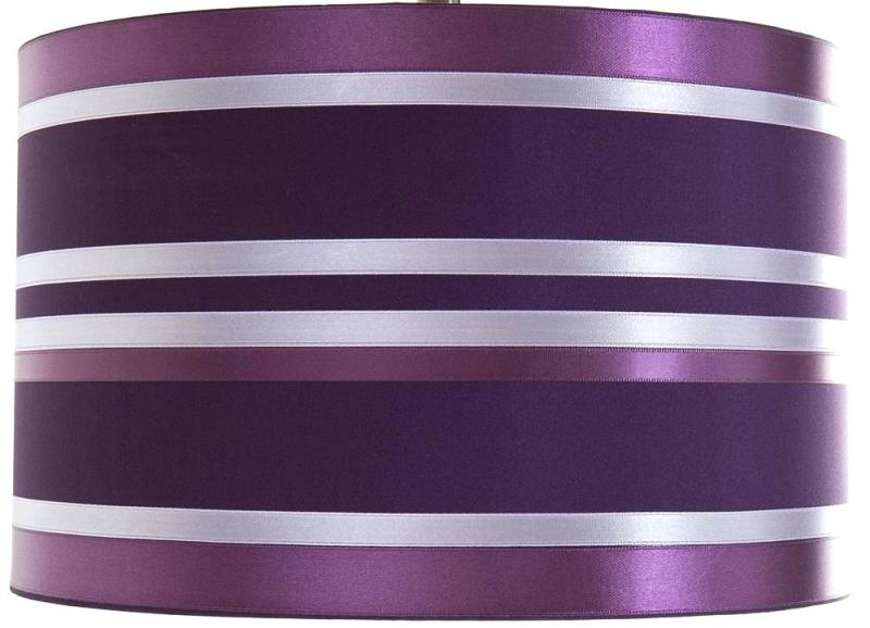 Image of: Purple And White Lamp Shade