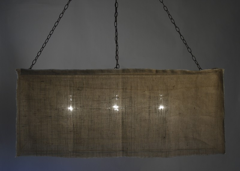 Picture of: Rectangle Burlap Lamp Shade