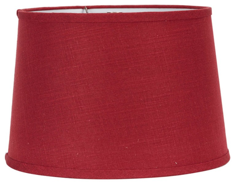 Picture of: Red Burlap Lamp Shade