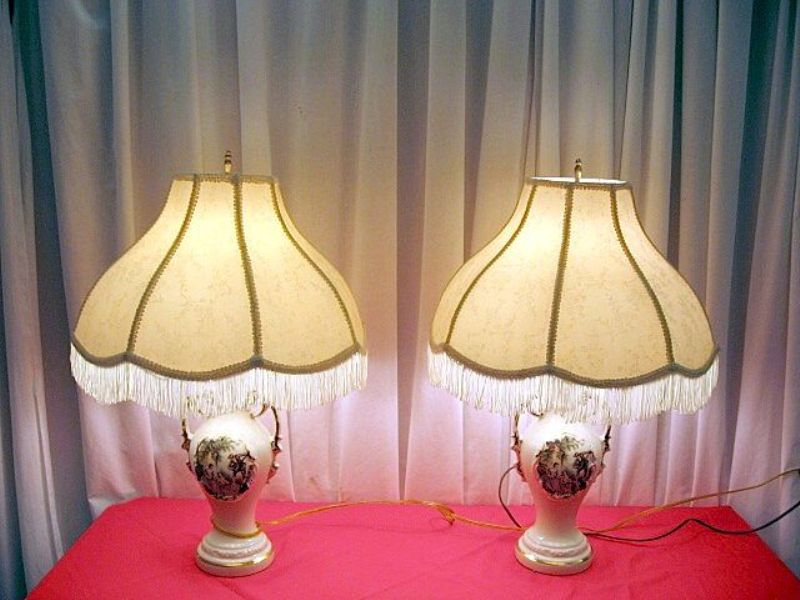 Picture of: Reproduction Victorian Lamp Shades