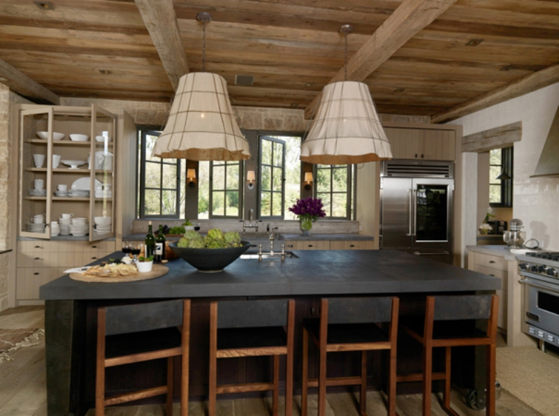 Rustic Kitchen Island Pendant Lighting