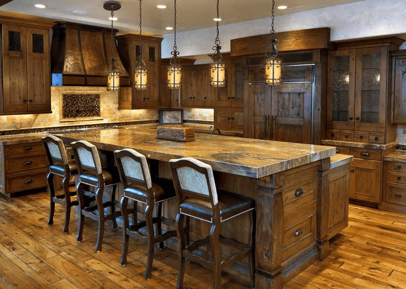 Rustic Pendant Lighting For Kitchen Island