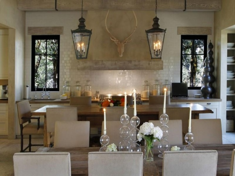 Rustic Pendant Lighting Kitchen Design