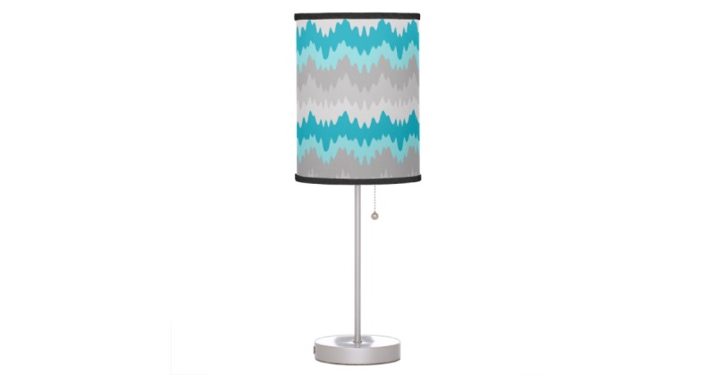Image of: Silver Lamp With Turquoise Shade