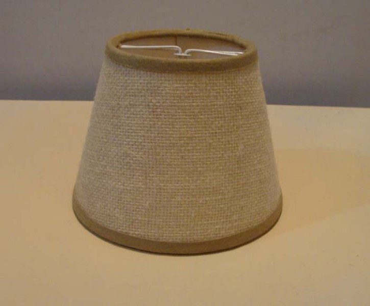 Picture of: Small Burlap Lamp Shade