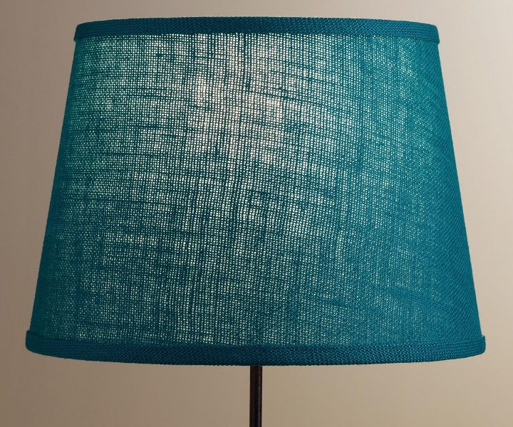 Image of: Small Turquoise Lamp Shade