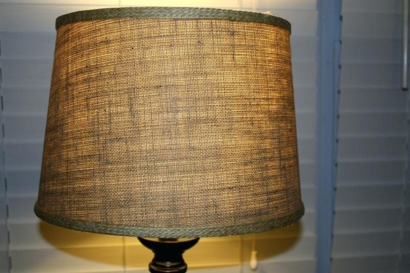 Table Lamp With Burlap Shade