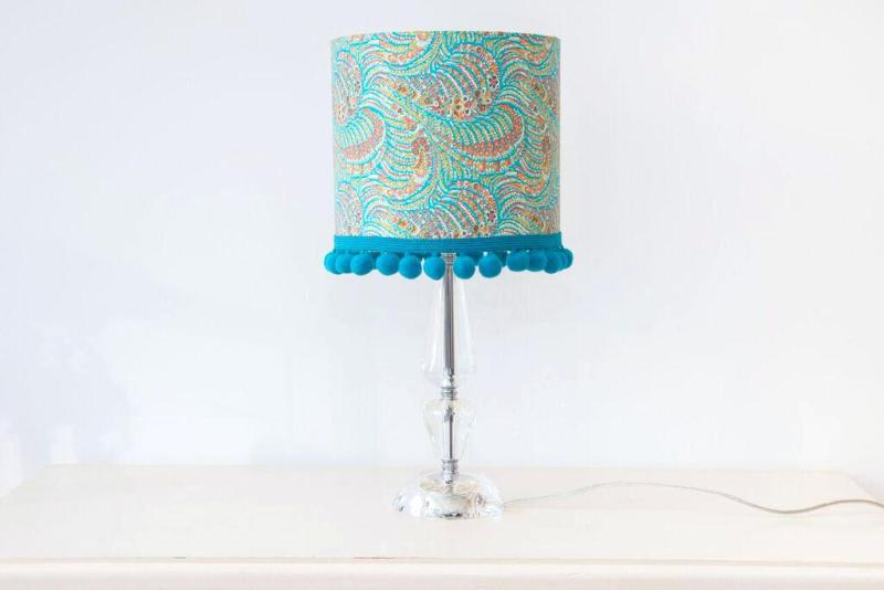 Image of: Turquoise And Blue Lamp Shade John Lewis