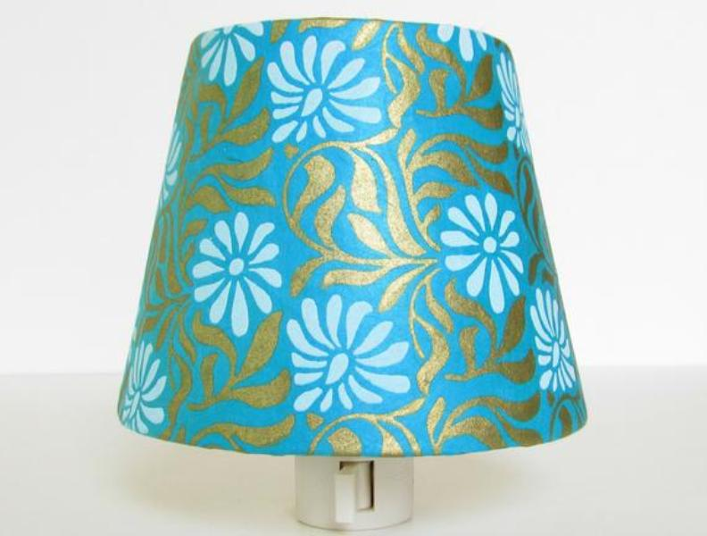 Image of: Turquoise Bedroom Lamp Shade
