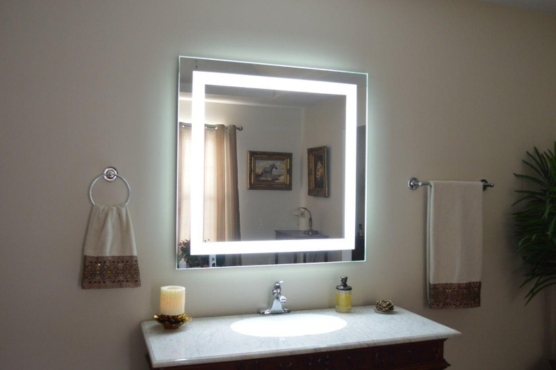 Image of: Vanity Mirrors With Built In Lights