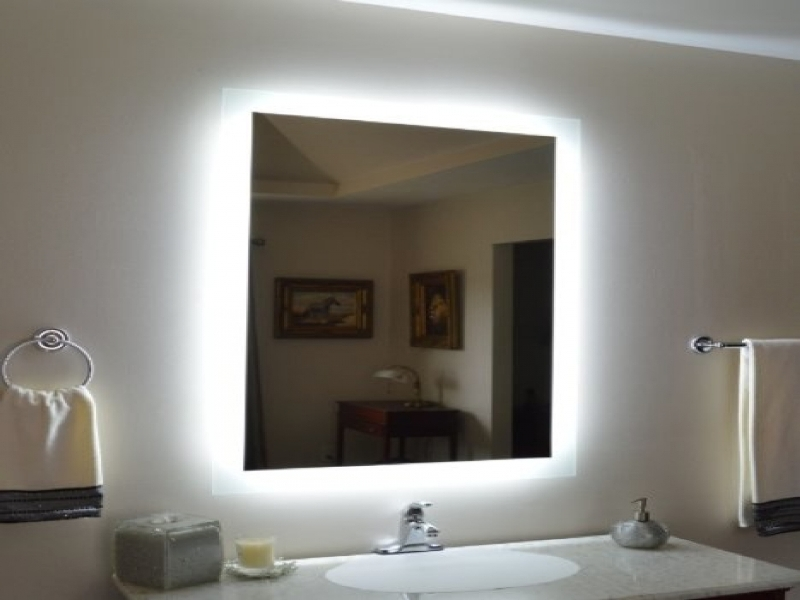 Image of: Vanity Wall Mirrors With Lights