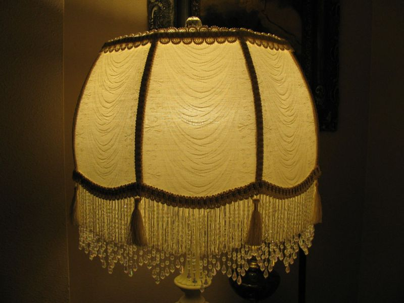 Picture of: Victorian Fringe Lamp Shades