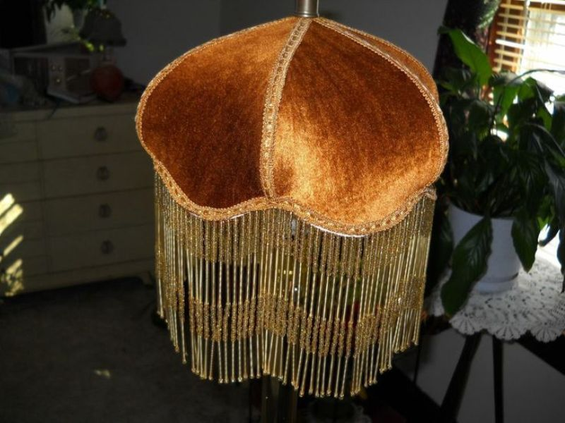 Picture of: Victorian Fringed Lamp Shades