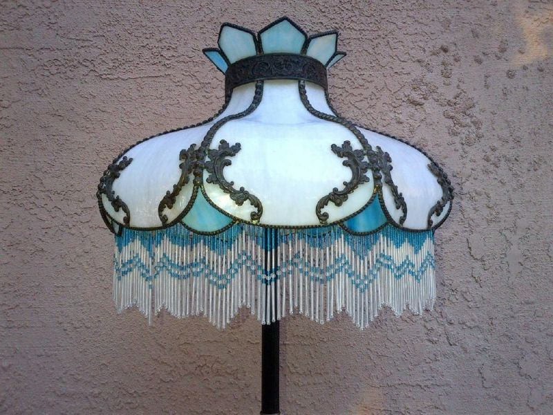 Picture of: Victorian Lamp Shades With Beaded