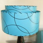 Vintage Turquoise Lamp Shade Frm Germany