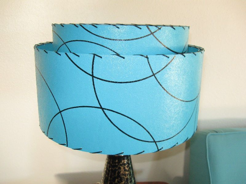 Image of: Vintage Turquoise Lamp Shade Frm Germany