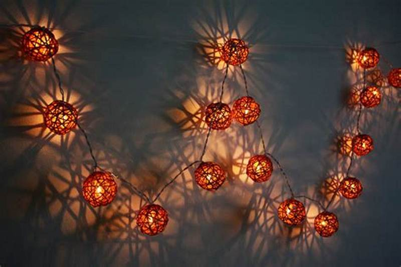 Image of: Decorative Ball Lights For Bedroom