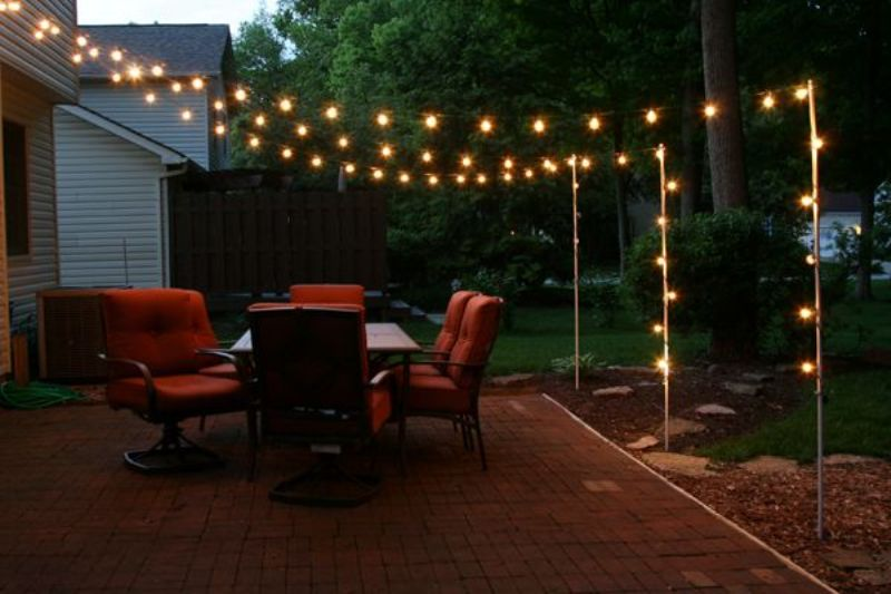 Picture of: Decorative Leave Patio Lights