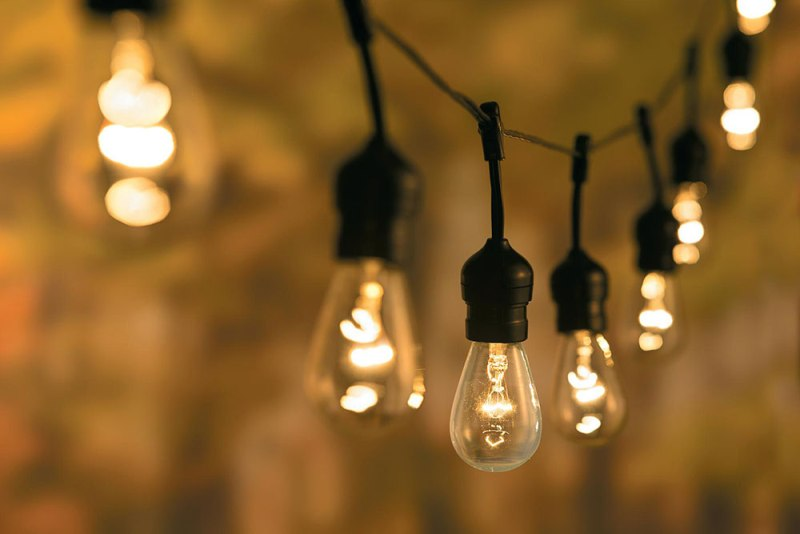 Picture of: Outdoor String Lights Vintage