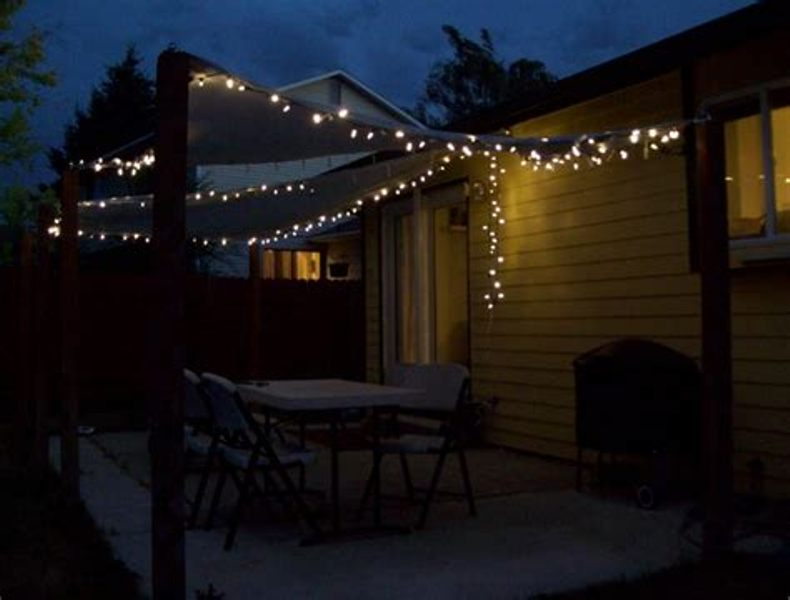Picture of: Vintage Patio String Lights