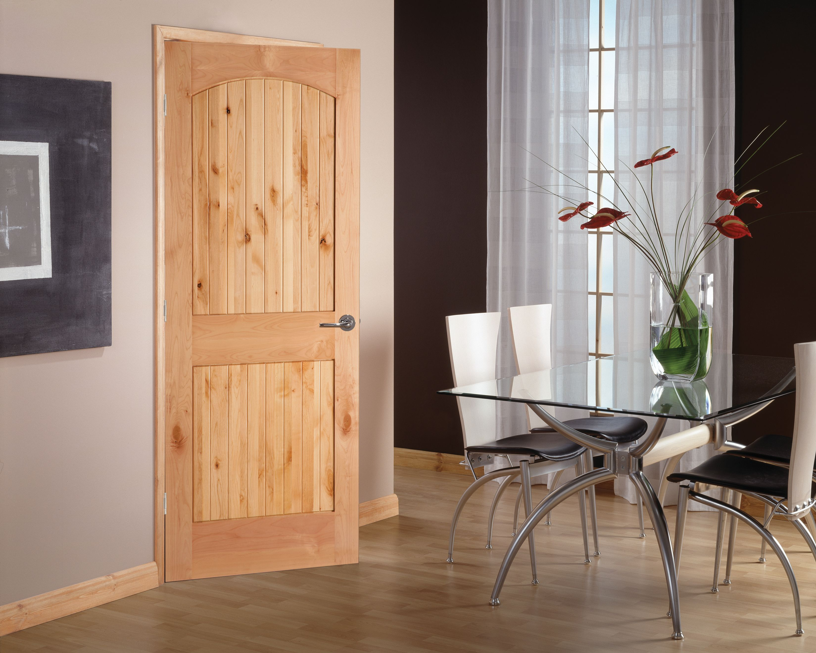 Image of: 2 Panel Arch Top Interior Doors Wood