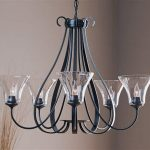 5 Light Chandelier With Shades