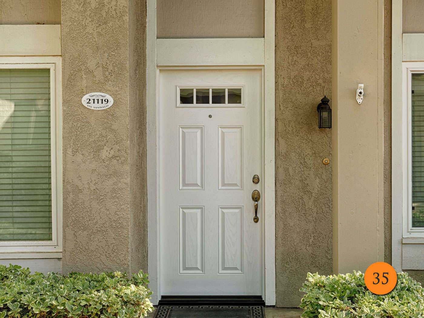 Image of: 5 Panel Exterior Door White