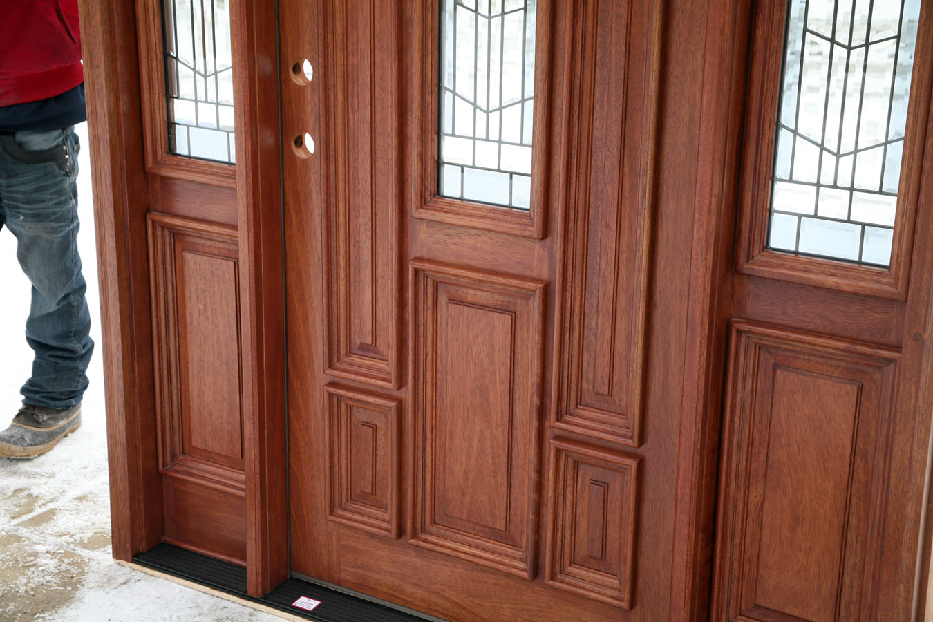 Image of: 5 Panel Exterior Door Wood