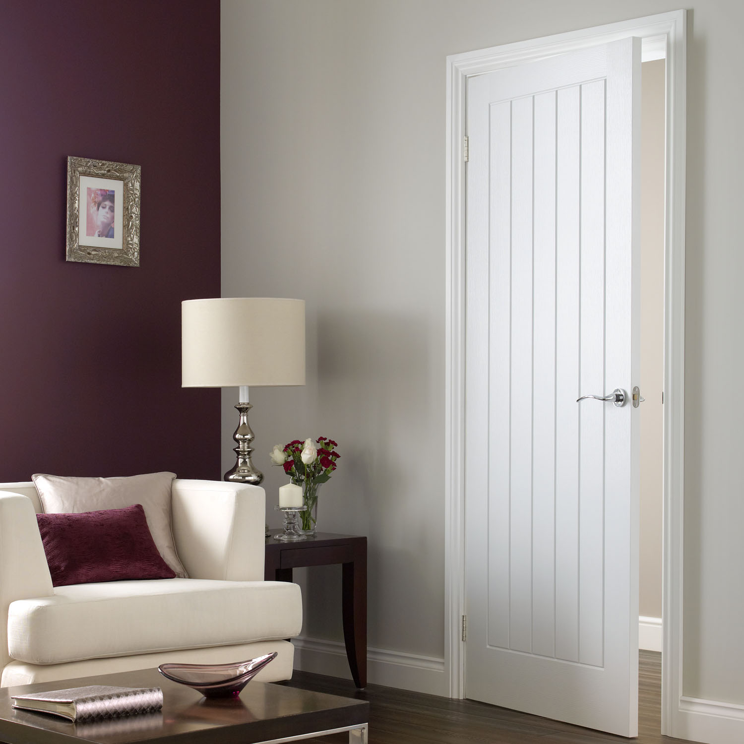 Image of: 5 Panel Interior Door Vertical