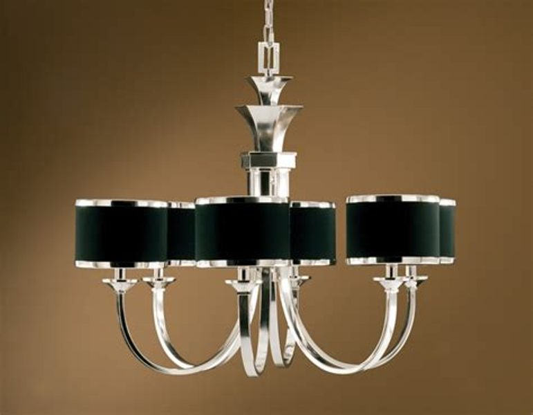 Image of: 6 Light Chandelier With Shades