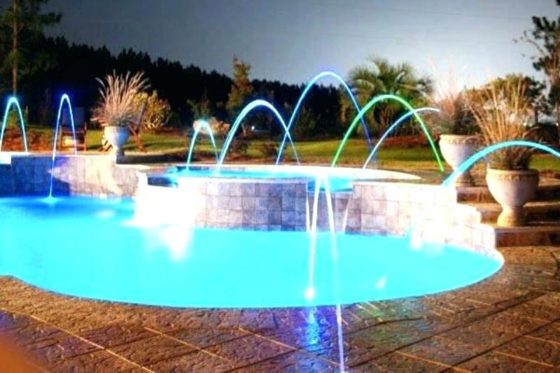 Image of: Above Ground Pool Fountain With Lights