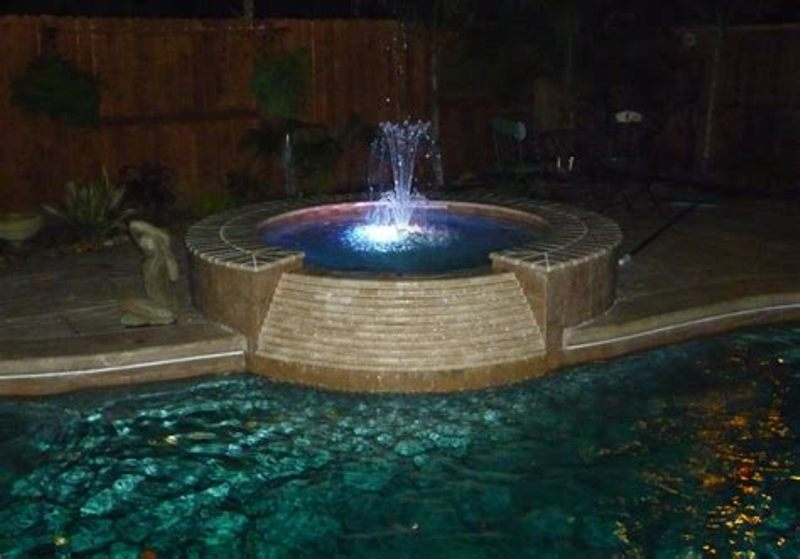Image of: Above Ground Pool Fountains And Lights
