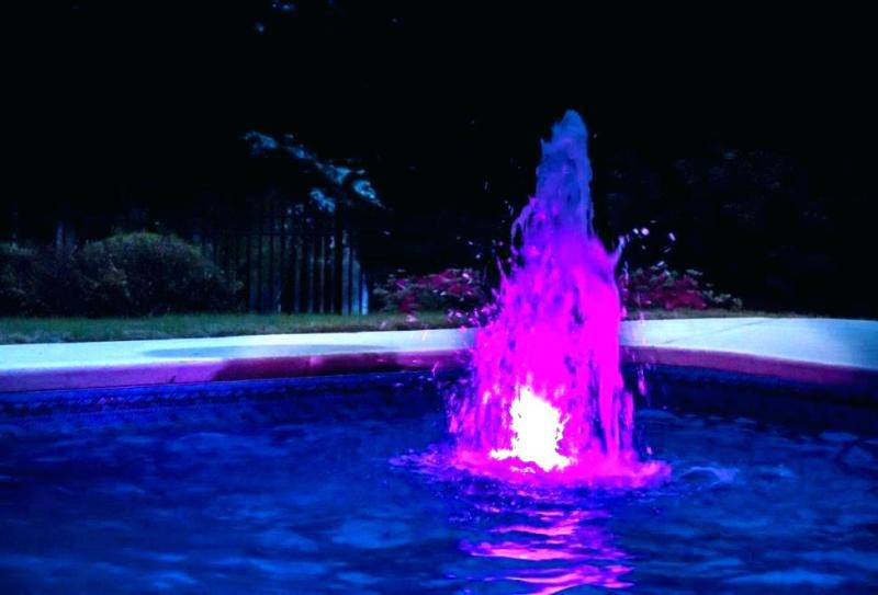 Image of: Above Ground Pool Lights And Fountains