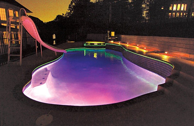 Image of: Above Ground Pool Lights Color Changing