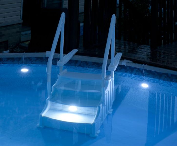 Image of: Above Ground Pool Lights Underwater