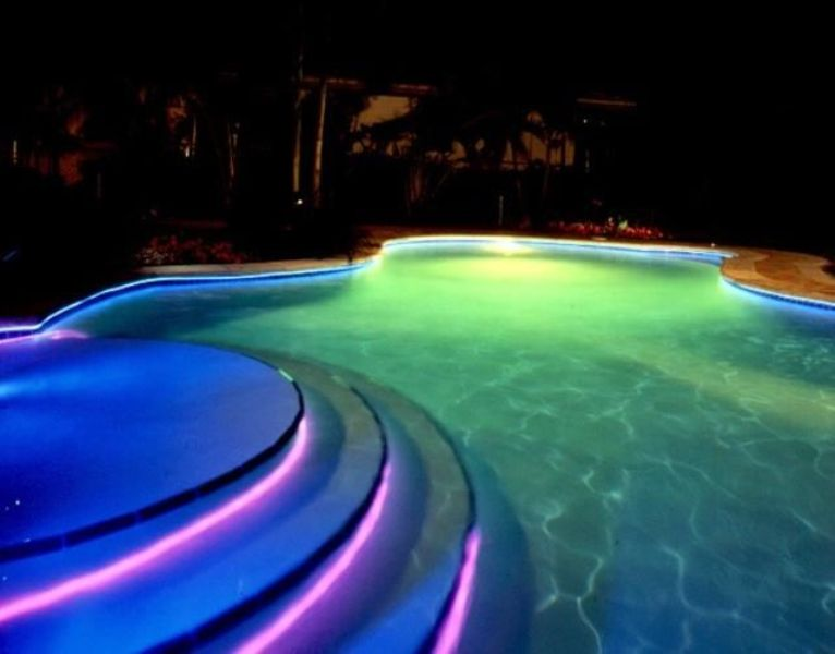 Image of: Above Ground Pool Underwater Lights